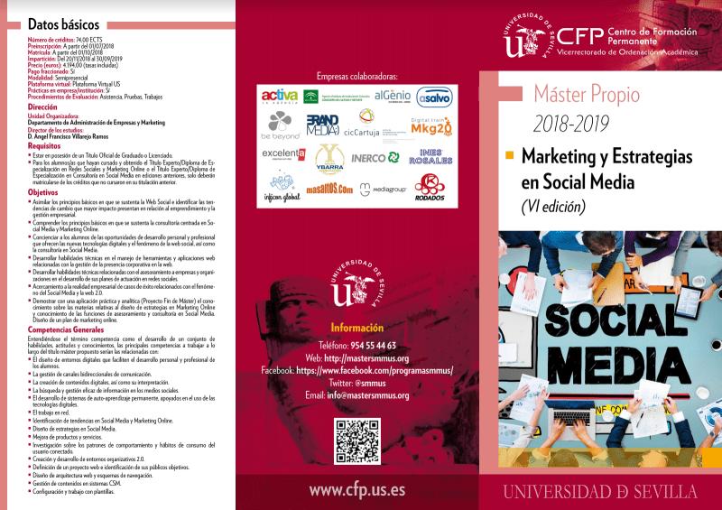 Máster en marketing digital por la universidad de Sevilla