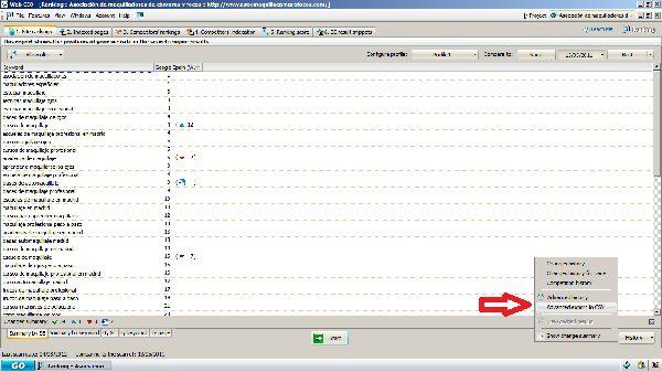 Exportar a CSV el sumario de posiciones alcanzadas en campaña seo con WEBCEO