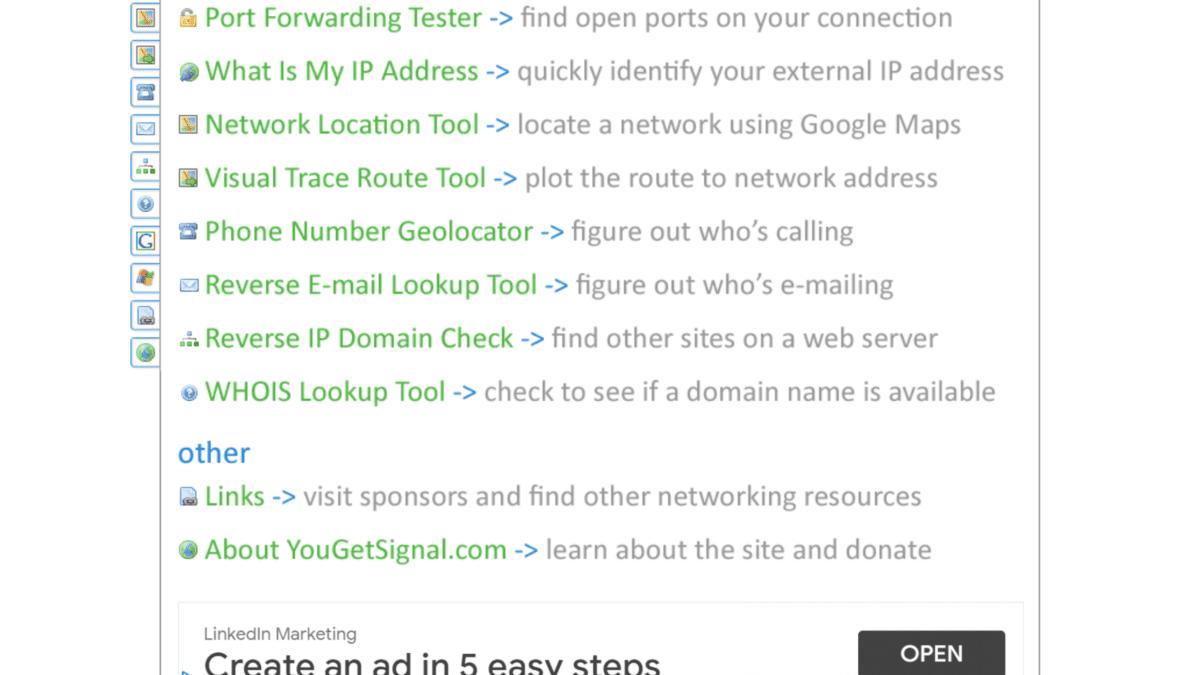 Yougetsignal.com una herramienta OSINT que usaremos para SEO